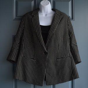 New Black/White Checkered Blazer by Lane Bryant
